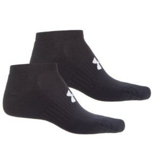 Under Armour No Show Socks 2 Pack Large Black New